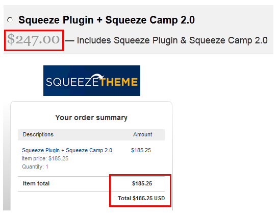 squeeze page coupon code