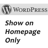 wordpress-show-on-homepage-only