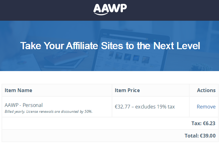 AAWP price